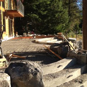Concrete Forming Lakeside Patio